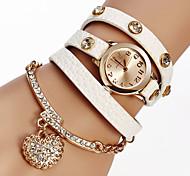cheap -Women's Quartz Bracelet Watch PU Band Sparkle / Heart shape / Bohemian / Fashion Black / White / Red / Brown / Grey / Khaki