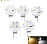 cheap -SENCART 5pcs 1.5W 3000-3500/6000-6500 lm G4 LED Spotlight MR11 6 leds SMD 5050 Dimmable Warm White Natural White AC 12V DC 12V