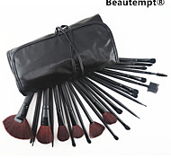 cheap -24 Pcs Makeup Brush with Free Leather Pouch - Professional and Perfect Style