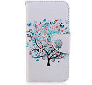 cheap -Case For Samsung Galaxy Samsung Galaxy Case Card Holder Wallet with Stand Flip Pattern Full Body Cases Tree PU Leather for J7 J5 J3 J2 J1