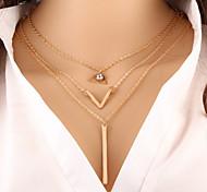 Недорогие -Жен. Слоистые ожерелья  -  Мода Золотой Ожерелье Назначение Особые случаи День рождения Подарок