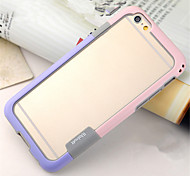 abordables -Funda Para Apple iPhone 8 iPhone 8 Plus iPhone 6 iPhone 6 Plus Antigolpes Transparente Marco Antigolpes Color sólido Suave TPU para
