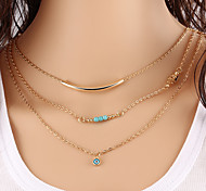 Women's Chain Necklaces Layered Necklaces Jewelry Turquoise Basic Unique Design Fashion Costume Jewelry Jewelry For Party Congratulations