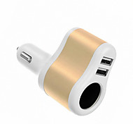 cheap -Car Charger Phone USB Charger Universal Multi Ports 2 USB Ports 2.1A 1A DC 12V-24V For iPad For Cellphone