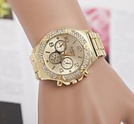 Недорогие -Муж. Жен. Для пары Кварцевый Имитационная Четырехугольник Часы Модные часы швейцарцы Имитация Алмазный Конструкторы Нержавеющая сталь