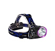 cheap -3Mode Headlamps Bike Lights LED 2000 lm 3 Mode with Batteries and Chargers Impact Resistant Rechargeable Waterproof Camping/Hiking/Caving