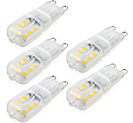 ywxlight® 4w g9 led bi-pin lights 14smd 2835 400lm quente / frio branco dimmable ac220 / 110v 5pcs
