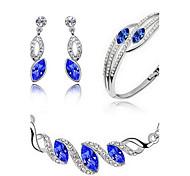 abordables -Cristal Conjunto de joyas - Fiesta, Trabajo, Casual Incluir Azul Oscuro / Verde / Azul Claro Para Fiesta / Cumpleaños / Pedida / Pendientes / Collare
