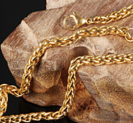 Недорогие -Муж. Жен. форма Ожерелья-бархатки Титановая сталь Позолота Ожерелья-бархатки Свадьба Для вечеринок Повседневные Спорт