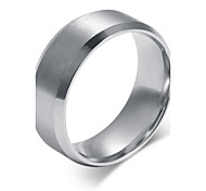 Men's Titanium Steel Ring Silver Simple Party / Daily / Casual 1pc Band Rings
