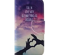Loving Hand Painted PU Phone Case for Galaxy S6edge Plus/S6edge/S6/S5/S5mini/S4/S4mini/S3/S3mini