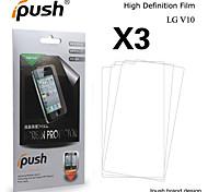 Недорогие -ipush высокой прозрачности экрана HD ЖК-протектор для LG v10 (3 шт)