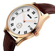 SKMEI® Men's Small Second Dial Quartz Business Watch Leather Strap Cool Watch Unique Watch Fashion Watch