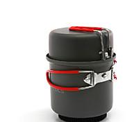 ALOCS Набор походной посуды Походная кастрюля Наборы Твердый алюминий для Отдых и туризм