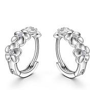 Недорогие -Жен. Серьги-гвоздики Стерлинговое серебро Бижутерия Свадьба Для вечеринок Повседневные Бижутерия