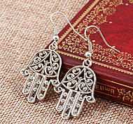 cheap -Women's Drop Earrings - Personalized, Punk Silver Hamsa Hand For Party / Daily