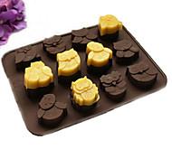 Molde Animal Para Bolo Para Chocolate Para Biscoito para Candy SiliconePáscoa Ano Novo Dia dos namorados Dia de Ação de Graças Natal