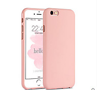 Pink Girl Solid Colour Elegant Simple Soft Case for iPhone 6s 6 Plus