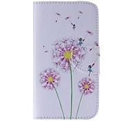 Pink Dandelion Painted PU Phone Case for Galaxy Grand Prime/Core Prime/J5/J1/J1 Ace/J2