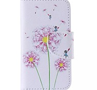 iPhone 7 Plus Pink Dandelion Painted PU Phone Case for iPhone 6s 6 Plus SE 5s 5c 5 4s 4
