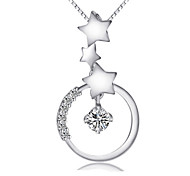 Недорогие -Жен. Стерлинговое серебро Кулоны  -  Ожерелье Назначение Свадьба Для вечеринок Повседневные