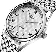 Herren Armbanduhr Quartz Wasserdicht Edelstahl Band Silber