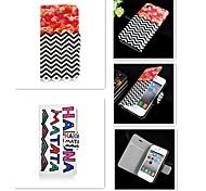 gestrichelten Linie der Buchstabe-Muster PU-Leder Ganzkörper-Case für iPhone 4 / 4S