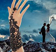Женский Браслеты-кольца Готический ювелирные изделия Кружево Свадьба Белый Черный Бижутерия 1шт