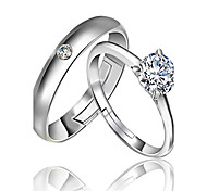 Pure Women's 925 Silver-Plated High Quality Handwork Elegant Ring 2PCS Promis rings for couples