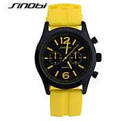 Недорогие -SINOBI Мужской Спортивные часы Наручные часы Защита от влаги Спортивные часы Кварцевый силиконовый Группа Желтый