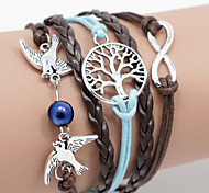 cheap -Men's Women's Wrap Bracelet Unique Design Fashion Leather Others Bird Animal Jewelry Daily Casual Sports Costume Jewelry Brown