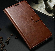 cheap -Case For Samsung Galaxy Samsung Galaxy Note Card Holder Wallet with Stand Flip Full Body Cases Solid Color PU Leather for Note 3
