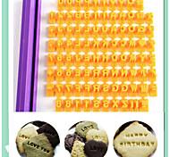 Fondant Letter Impress Set Alphameric Character Set Cookie Cutter Baking Tools