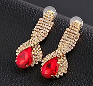 Women's Drop Earrings Luxury Synthetic Gemstones Cubic Zirconia Imitation Diamond Alloy Drop Jewelry For