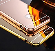 cheap -Case For iPhone 5 Apple iPhone 5 Case Plating Mirror Back Cover Solid Color Hard Acrylic for iPhone SE/5s iPhone 5