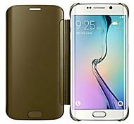 хрустальное зеркало всего тела чехол для Samsung Galaxy S6 края g9250