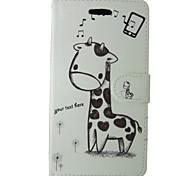 Giraffe Painted PU Phone Case for Huawei P8 Lite/P8/P7/Y550/Y530/G6