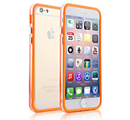 DF Dual Middle Transparent TPU+PC Soft Back Case for iPhone 6s 6 Plus