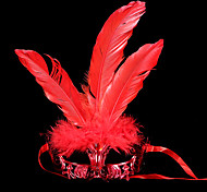 Недорогие -Карнавал Маски Маскарад Муж. Жен. Хэллоуин Карнавал Фестиваль / праздник Костюмы на Хэллоуин Синий Золотой Красный Лиловый Розовый