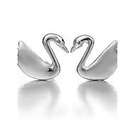 Men's Women's Stud Earrings Sterling Silver Jewelry For Wedding Party Daily