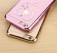 люблю Даймон гальванических ТПУ с задней случае для iphone6 плюс / 6S плюс (ассорти цветов)