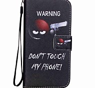 cheap -Case For Samsung Galaxy Card Holder Wallet with Stand Flip Pattern Full Body Cases Word / Phrase Hard PU Leather for S5 Mini S5 S4 Mini S4