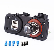 cheap -Iztoss 12-24v Dual USB Power Port Charger Cigarette Lighter Plug Socket for Motorcycle car RV boat