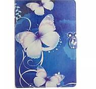 Недорогие -Для Кейс для  Samsung Galaxy Бумажник для карт / Кошелек / со стендом / Флип / С узором Кейс для Чехол Кейс для Бабочка Искусственная кожа
