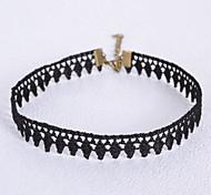 Женский Ожерелья-бархатки Готический ювелирные изделия Геометрической формы Кружево Бижутерия Назначение Свадьба Для вечеринок