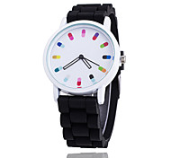 Hot Selling Fashion Candy Color Silicone Quartz Geneva Women Wrist Watch Relogio Feminino Gift Strap Watch