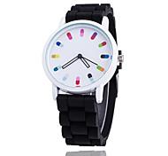 Жен. Модные часы Наручные часы Кварцевый / силиконовый Группа На каждый день Cool Черный Белый