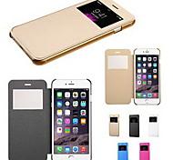 Недорогие -коснитесь вид флип обратно прозрачный полный случай тела для Iphone 6с 6 плюс