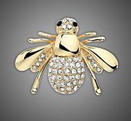 Недорогие -позолоченный / горный хрусталь брошь / женщин моды животное пчелы брошь / свадьба / партия 1шт