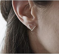 cheap -Women's Stud Earrings Fashion Adjustable Simple Style Alloy Triangle Jewelry Party Daily Casual Costume Jewelry